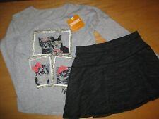 NWT Gymboree Kitty in Pink size 6 Set Gray Kitty Shirt Ponte Skirt