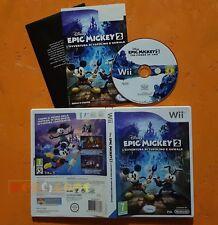 DISNEY EPIC MICKEY 2 TOPOLINO E OSWALD - Nintendo Wii - Italiano - USATO - FO