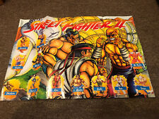 Vintage Street Fighter II 2 1992-16x20 Promo Poster Capcom RARE
