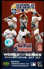2007 UPPERDECK RED SOXS WORLD SERIES CHAMPIONS BOX SET  51 CARD SET