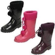Calzado de niña botas de agua de punto