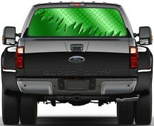 Carbon Lime Green Rear Window Graphic Decal Truck SUV Vans