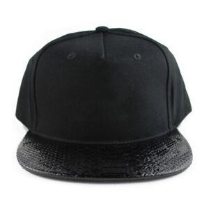 CLEARANCE Lot 5 Caps Blank Snakeskin Snapback Hat Cap Bulk Lot Wholesale NEW