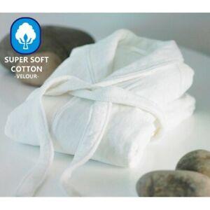 Hot tub Luxury Hotel velour Embroidered NAME 100% Cotton Bathrobe ,Dressing Gown