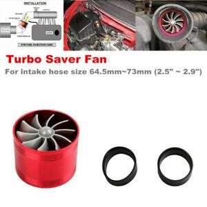 Car Air Intake Turbonator Single Fan Turbine Saver Turbo Supercharger Universal