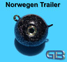 Norwegen Trailer, 40g 50g 75g 115g 170g Sea Trailer, Kugelblei mit Öse
