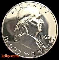 1962 50C Franklin Silver Half Dollar GEM PROOF