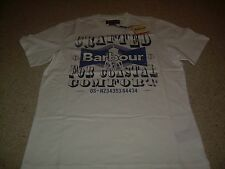 BARBOUR White  Mens T Shirt Lighthouse M NWT NEW FREE SHIP