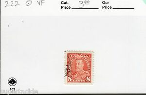 1935 Canada #222 Θ VF 8 cent KGV Pictorial Issue postage stamp. Mute cds cancel