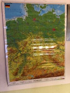 Schulwandkarte Wandkarte Deutschland  ca. 90 x 70 cm zum mit Aufhänger NEU OVP