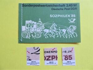 """MH 8.4 ° """"Sozphilex""""  mit neuem Plattenfehlern 2966 VIII,XI,XII  -gest. Rostock"""