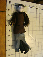Original Vintage CHINESE doll: aprox 9 inch man with wire base, Very cool