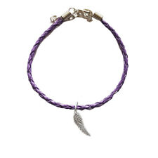 Feather Purple Leather Anklet,Boho,Bohemian,Peac e,Spiritual,Ankle Bracelet