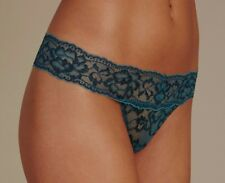 Marks & Spencers No VPL Floral Lace High Waisted Thong Size 8 EUR 36