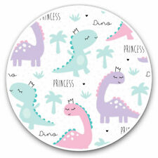 2 x Vinyl Stickers 25cm - Adorable Princess Dinosaurs Cool Gift #3583