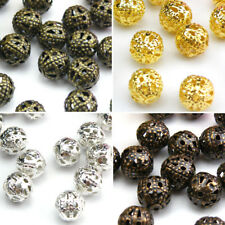 Wholesale Metal Filigree Round Space Beads 4mm-16mm Jewelry Making R3004