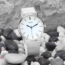 Las mujeres acero inoxidable reloj analógico de cuarzo reloj de pulsera