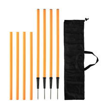 4 Pack Agility Training Poles Portable Sport Workout Pole Black Carry Bag Orange