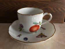 Meissen antique porcelain tea cup&saucer hand painted 1850-1870yy