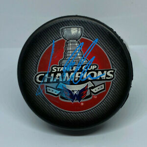 Washington Capitals Lars Eller Stanley Cup Champs Signed Puck Fanatics Hologram