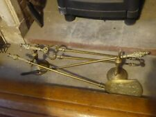 Antique 19th century Solid Brass Fireplace Accessories