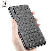 Baseus Luxury Slim Weave Soft PU Leather Case Cover For iPhone X 6 6S 7 8 Plus
