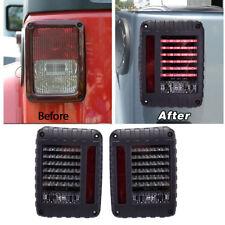2pc LED Tail Light Rear Turn Signal Reverse Brake Lamp fr Jeep Wrangler JK 07-16