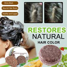 Hair Darkening Shampoo Bar Soap Hair Shampoo Polygonum Essence Hair Cleansing~