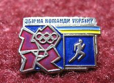 LONDON 2012 OLYMPIC PARALYMPIC  NOC UKRAINE PIN BADGE TEAM  ATHLETICS TRACK