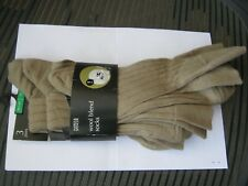 Mens socks, 10-12, Natural, x3 pairs, Wool blend, M&S