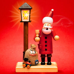SIKORA RM-A-LED Wooden Christmas Incense Smoker Santa Battery-Operated LED Light