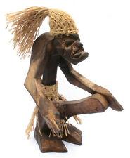 18cm Asmat Schutzgeist Holz Figur Rasta Fari Wilder Kerl jimmy Hendrix E Gitarre