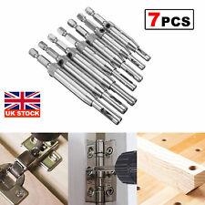 More details for 7pcs wood hss centering hinge drill bit set 5/64
