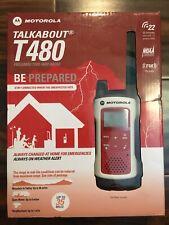 Motorola Talkabout T480 2-Way Radio, Single, Red/White, New
