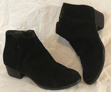 Jones Bootmaker Black Ankle Suede Boots Size 39 (725Q)
