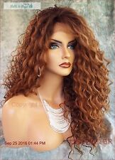 LACE FRONT LONG CURLY OMBRE STYLE WIG SOM7002 GORGEOUS SEXY STYLE US SELLER 1067
