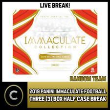 2019 Caja de 3 de fútbol PANINI IMMACULATE (mitad Case) romper #F649 - Elige Tu Equipo