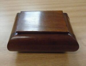 Vintage Art Deco Style Wood Trinket/Jewellery Box                             D1