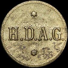 Valor de marca: faehrmarke h.d.a. G, latón. puerto vapor - - barco-sociedad de Hamburgo.