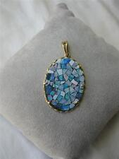 Opal Pendant 14K Gold Estate Jewelry Stunning Fire Color