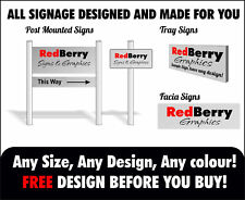 SHOP FRONT SIGNAGE, ANY SIGNS DESIGNED CUSTOM TRAY, ALUMINIUM COMPOSITE, POSTS