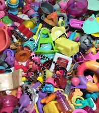 Littlest Pet Shop Lot Of 20 RANDOM Pieces Toy Food Clothes Bows & Crystal Collar
