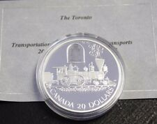 2000 $20 Proof Silver Transportation Train - The Toronto, Not Box