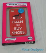 Vivitar Snap Case Cover for iPhone 4 4S Swag Style Keep Calm Buy Shoes Shoe NEW