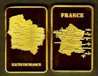 ★★ MAGNIFIQUE LINGOT PLAQUé OR ● NOUVELLE REGION HAUTS DE FRANCE ★★ R2
