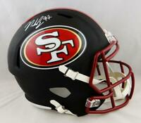 Nick Bosa Signed San Francisco 49ers F/S Flat Black Speed Helmet- Beckett Auth