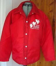 Vintage Mercury Sportswear L-XL Red Windbreaker Rem. Liner Canada Yukon Klondike