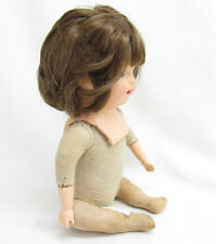 Vtg/Antique/Old Baby Doll Composition Jointed Straw Body Real Hair?