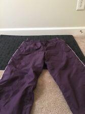 ATHLETIC WORKS Womens Athletic Capri Lined Pants Sz L 12/14 Purple Clothes
