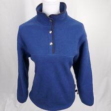 Woolrich womens medium polartech pullover blue fleece quarter button neck  c9